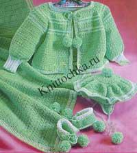 вязание для <u>вязанное на спицах детское одеяльце</u> новорожденных