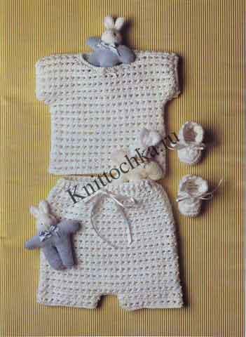 вязаная одежда для новорожденного