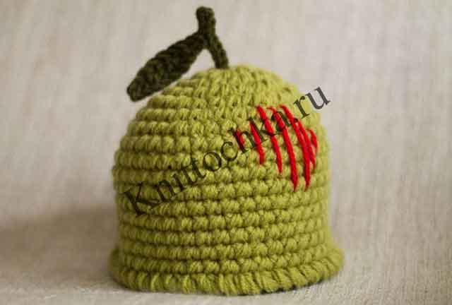 шапочка-груша для новорожденных фото