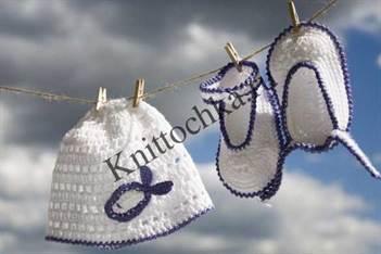 вязаное приданное для новорожденного