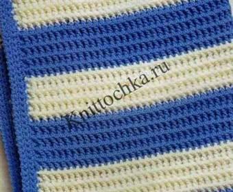 теплое вязаное одеяло для новорожденного