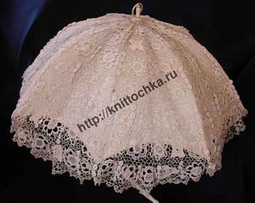 зонтик из ирландского кружева