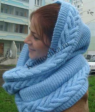 Для такого шарфа понадобится