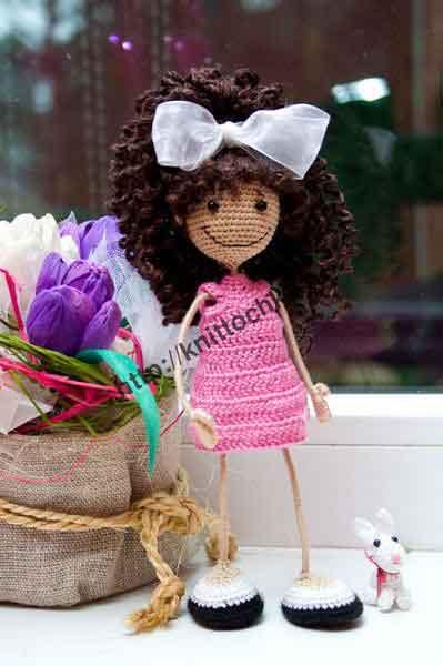 вязаная кукла фото