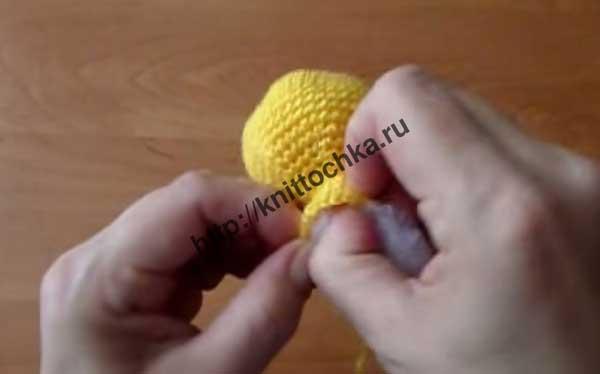 туловище вязаной игрушки