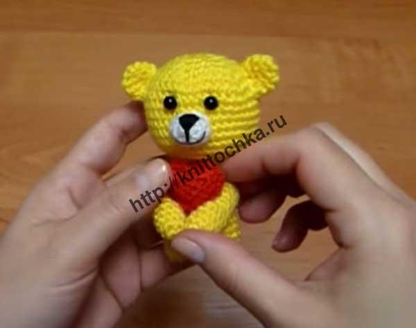 сборка вязаной игрушки