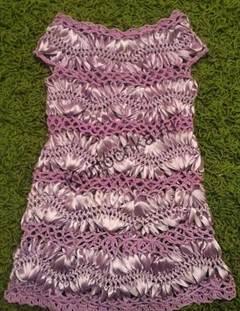вязание платья вилкой