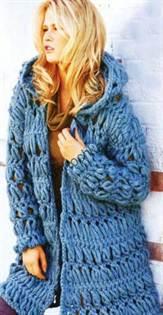 вязание пальто вилкой