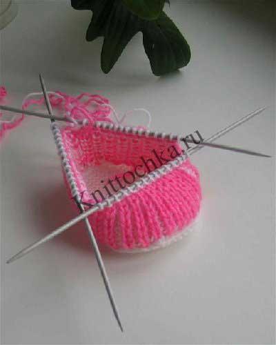 вязание пинеток спицами, пошаговая инструкция