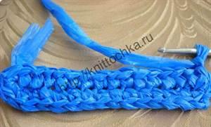 вязание из полиэтиленовых пакетов на примере тапочек