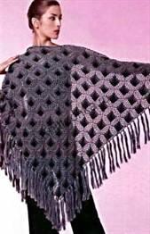 схемы вязания ажурных шалей крючком