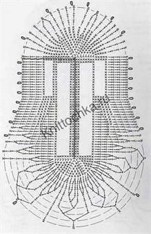 схемы вязания тапочек крючком