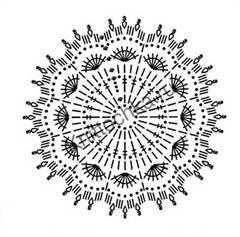 схема вязания розы крючком
