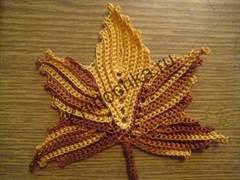 схемы вязания листьев крючком