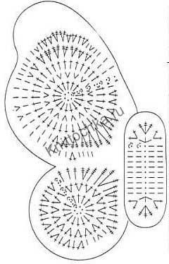схемы вязания бабочек крючком