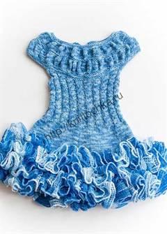 оборки из ленточной пряжи на платье