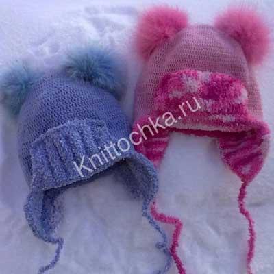 выбор модели вязания крючком шапки для девочки
