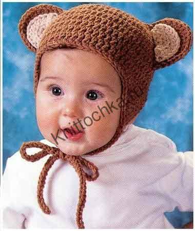 шапка с ушками для девочки