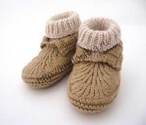 вязание пинеток для новорожденных мальчиков