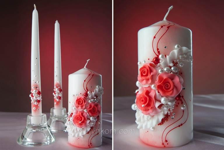 Украшение свадебных свеч своими руками