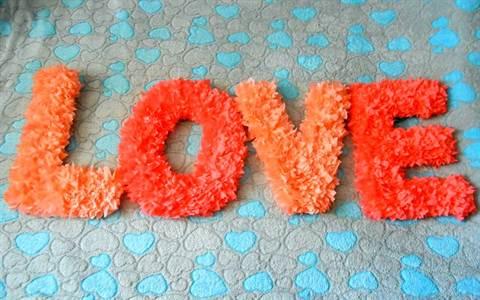 Как сделать объемные буквы из салфеток своими