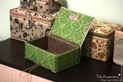 Как из картонных коробок сделать шкатулку
