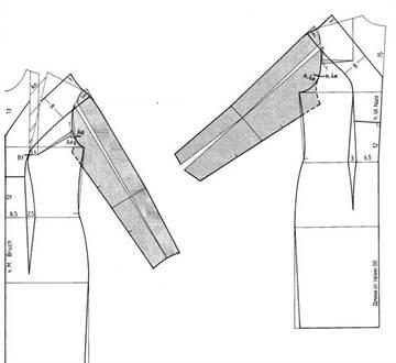 Скачать выкройке прямого платья 46 размер