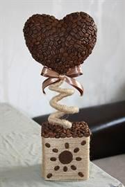 Топиарий своими руками из зерен кофе