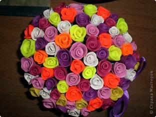 Как сделать цветы из пластилина.