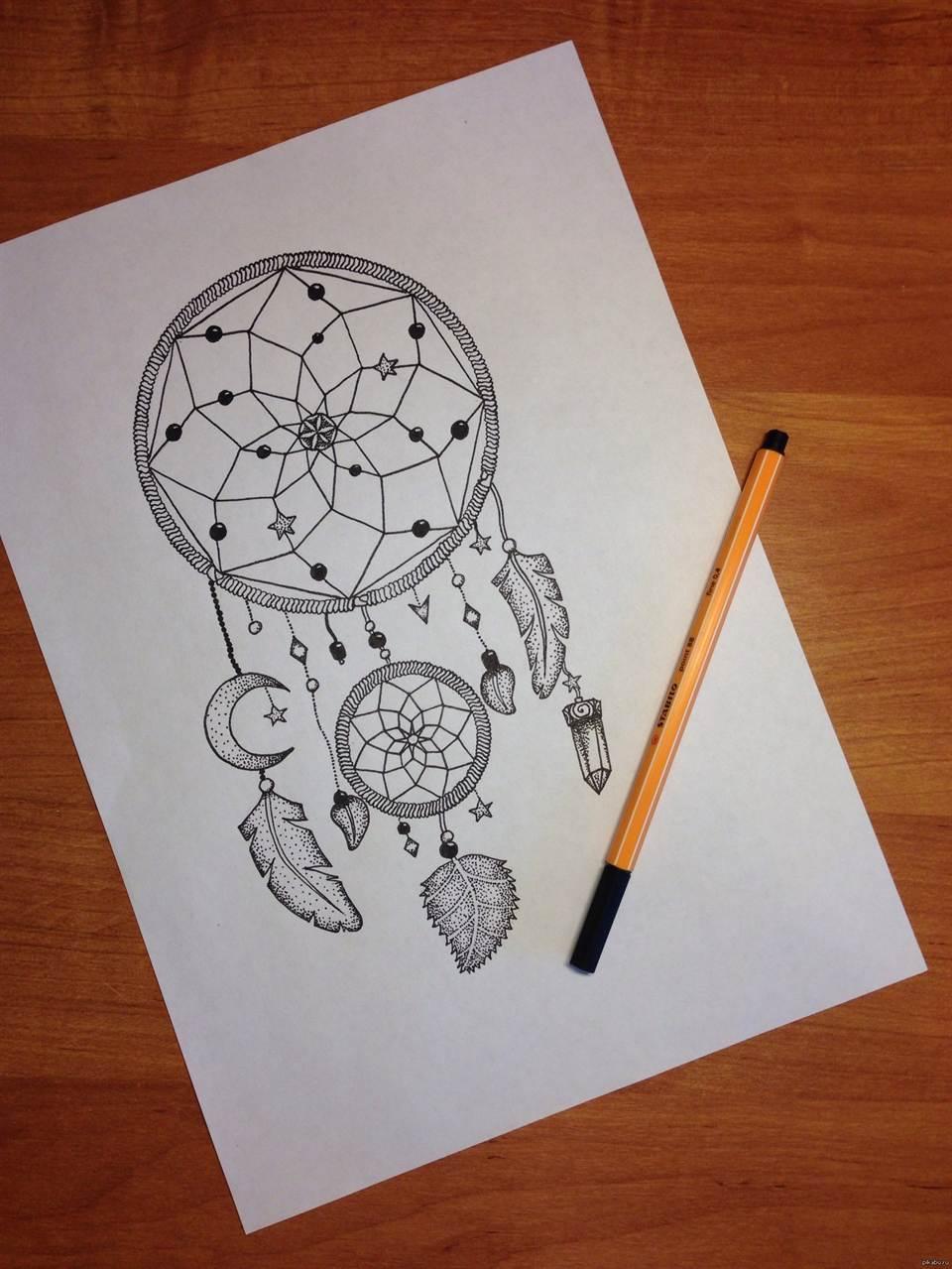 Графика гелевой ручкой