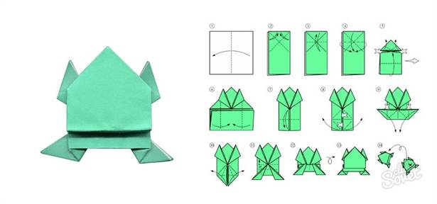 Оригами лягушка. Оригами из бумаги лягушка. Лягушка 83