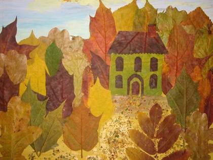 Поделки из листьев для 1 класса своими руками 3