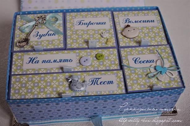 Мамина коробочка для новорожденных своими руками 27