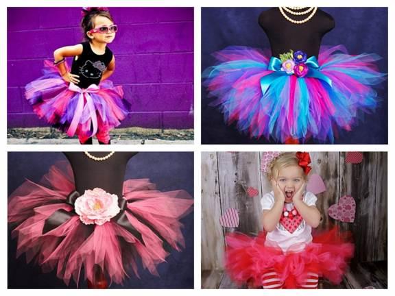 Юбка из фатина разноцветная для девочки
