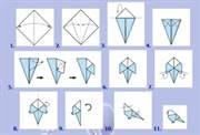 Схема оригами: праздничный журавлик оригами для детей и взрослых.