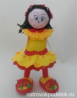 Куклы из фоамирана своими руками выкройки 69