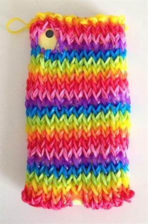 плетение из резинок чехол для телефона крючком со схемами и видео