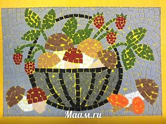 Мозаика для детей из бумаги