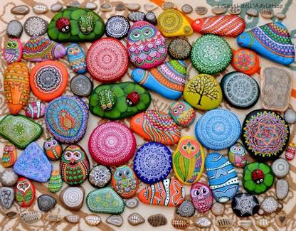 рисунки на камнях акриловыми красками фото