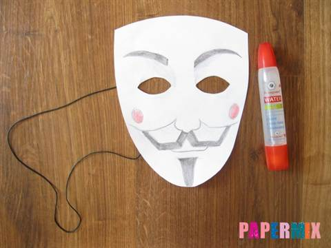 Как сделать из бумаги легкую маску 888