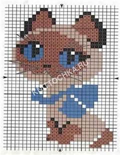 кот вышивка крестиком