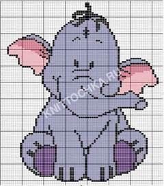 слоненок вышивка крестиком