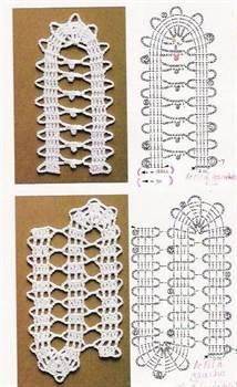 Брюггское кружево схемы моделей