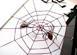 Паутина на хэллоуин своими руками