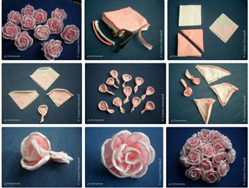Как сделать цветок из салфетки поэтапно 90
