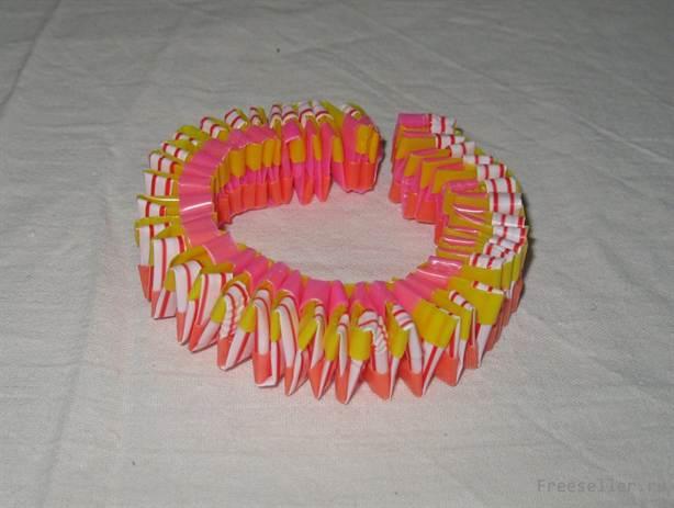 Плетение браслетов из цветных трубочек