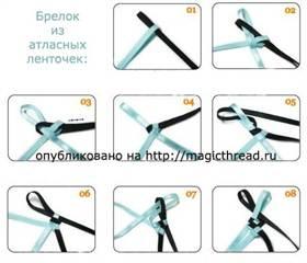 Плетения браслетов из ленточек видео