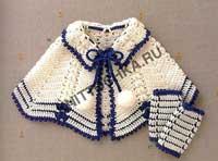 вязание пончо для девочки
