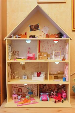 Домик из фанеры для куклы барби своими руками