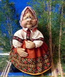 Кукла из колготок на чайник